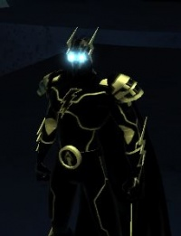 Black Storm wearing the official In Tenebris outfit.
